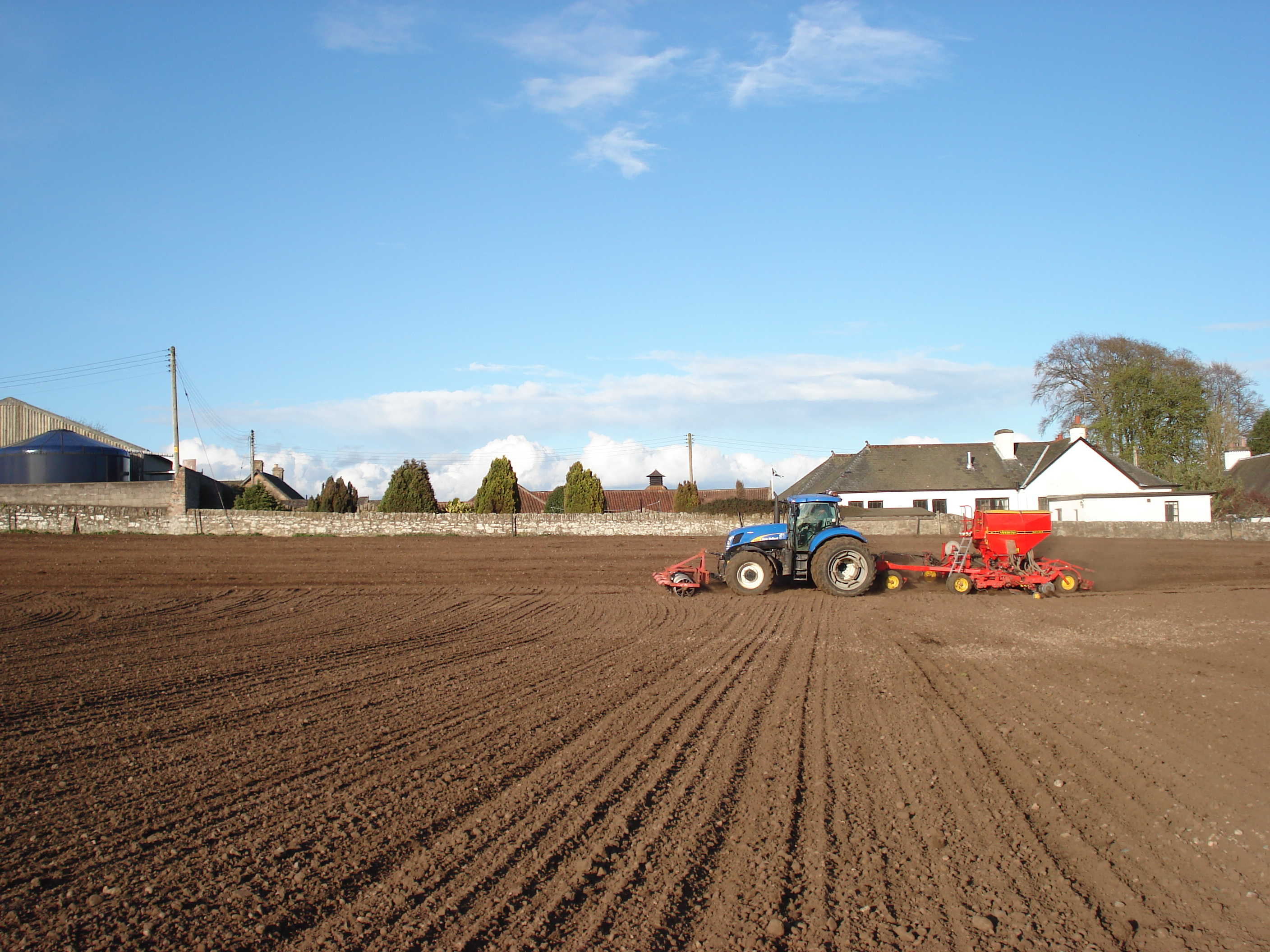 Sowing at Daftmill